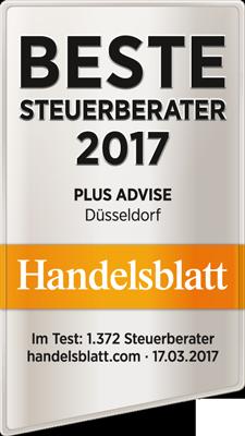 Handelsblatt Beste Steuerberater Plus Advise 2017