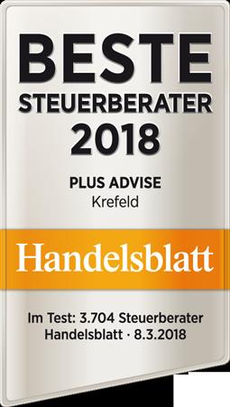 Handelsblatt Beste Steuerberater Plus Advise 2018